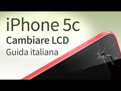 iPhone 5c sostituzione vetro. LCD. Touchscreen [guida italiana]
