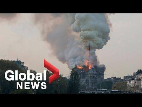 Notre Dame Cathedral in Paris engulfed in flames