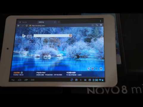 ainol novo8 mini tablet pc review completo