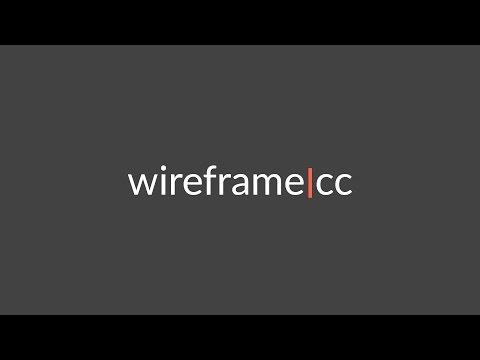 Быстрое создание скетча в wireframe|cc