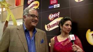 Sridevi & Boney Kapoor at the SIIMA Awards 2013 (Malayalam)