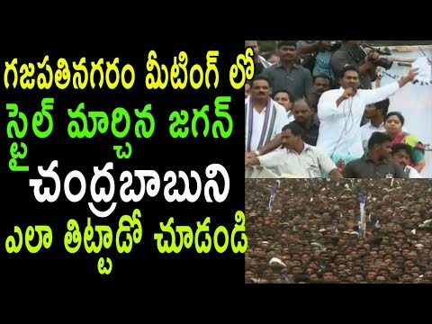 YS Jagan Gajapathinagaram Meeting | Comments On TDP Party AP Leaders Mafia | Cinema Politics