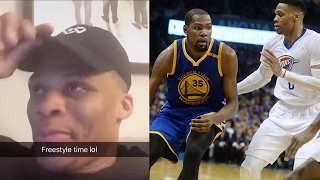 Russell Westbrook Freestyle FAIL, Steve Kerr SCARED to Coach Russ and Kevin Durant Together