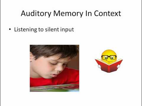 Learning Disabilities There is a Cure: Listening, Auditory Memory in Context