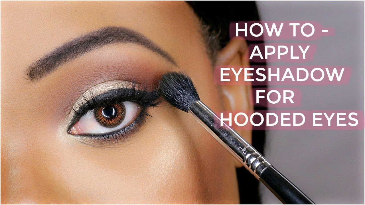 Eye makeup techniques for hooded eyelids