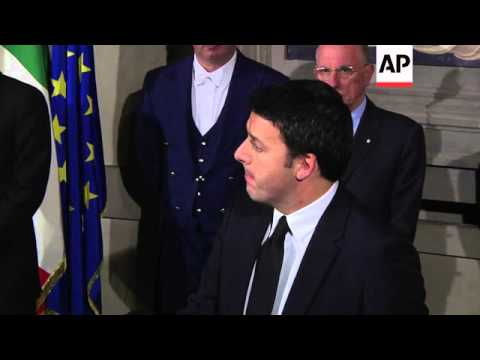 Renzi presents his new Cabinet to president, Renzi comments, analyst