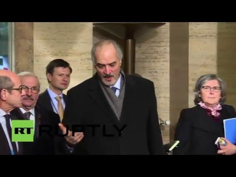 Switzerland: Syrian delegation arrive for UN peace talks in Geneva