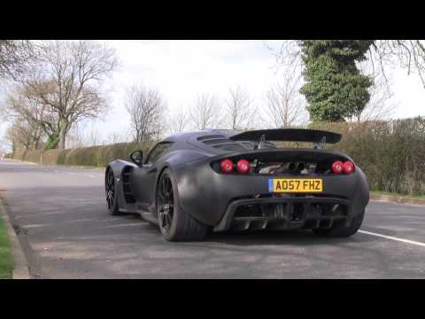 Hennessey Venom GT Prototype - Road Testing in England Music Videos