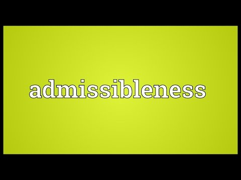 Header of admissibleness