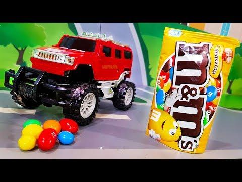 Мультики про машинки Цветные конфеты и новая машинка в мультике – Супер Гонщик Мультфильмы для детей