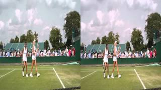 Stephanie Foretz Gacon / Kristina Mladenovic In 3D at Wimbledon