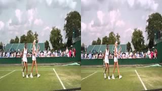 Stephanie Foretz Gacon / Kristina Mladenovic In 3D at Wimbledon