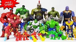 Avengers Power-up Hulk, Iron man vs  Infinity War Thanos Gauntlet Battle Toys Play