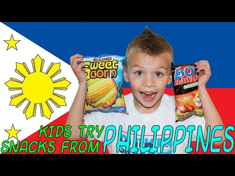 Family Fun Pack Kids Try Foods from the Philippines || Universal Yums