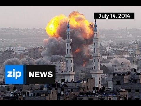 Israel Roof-Knocks Gaza Strip Missile Site - July 14, 2014