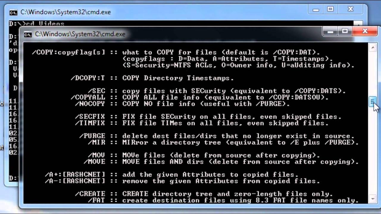 Robocopy commands