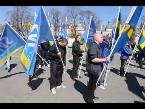 Demonstration Svenskarnas parti