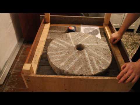 Как сделать жернова каменные
