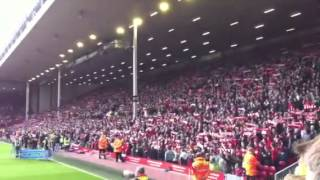 Liverpool vs Reading 2012 You'll Never Walk Alone