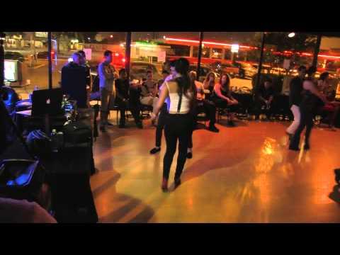 Johan Ibanez & Crystal Verver social dance at Salomon Sunday Salsa Social