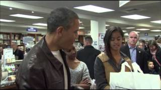 Raw: (Obama) Shops at Independent Bookstore  11/30/13