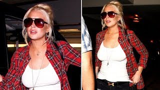 Lindsay Lohan Goes Braless For Coldplay [2011]