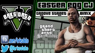 "GTA V - Easter Egg ""CJ"" Gangue da BMX em Grovee Street"