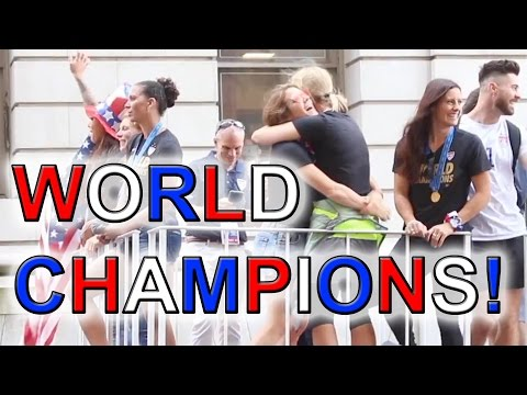 US Women's soccer team - Winners of The World Cup - Canyon of Sheroes