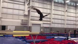 Simone Biles Training Double Layout Off The Beam