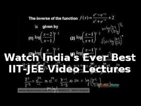 Inverse Function Iit Jee Advanced Maths Coaching video