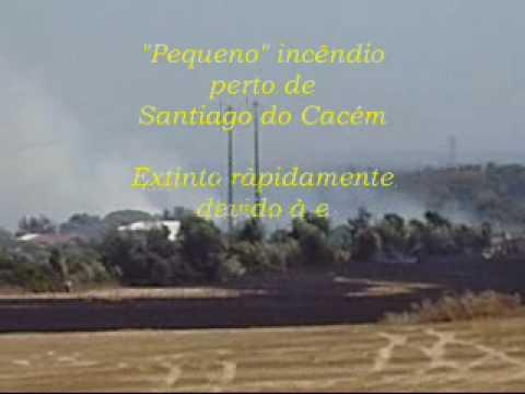 Pequeno inc�ndio - Bombeiros Volunt�rios de Santiago do Cac�m
