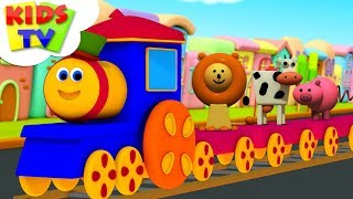 Animals Train | Learning Videos For Babies | Bob The Train | Cartoons Shows - Kids TV