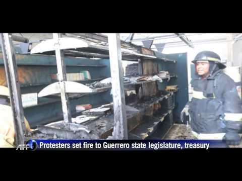 Protesters Burn State Congress Over Mexico 'Massacre'