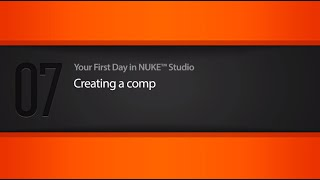 Creating a comp in NUKE STUDIO tutorial