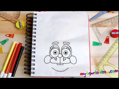How to draw Bonnie from FNAF   Easy step by step drawing lessons for kids