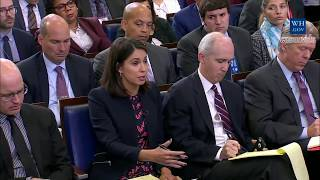 Sarah 'Huckabee' Sanders NERVOUSLY answers on Trump's Call towidow fallen soldier frederica wilson