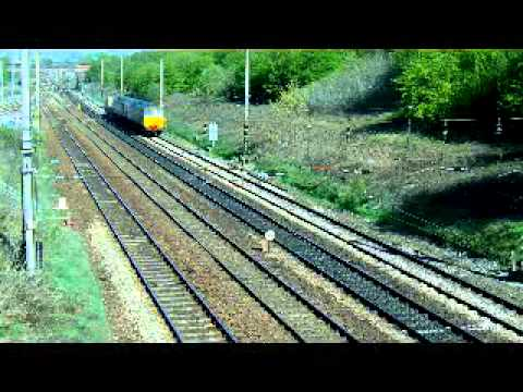 Trains at Flag Lane and Preston Station over the last few days. Flag lane -09-04-2011 1. Class 66 No. 66159 heads north with the 6L43. 2. DRS Class 57&#039;s No. ...