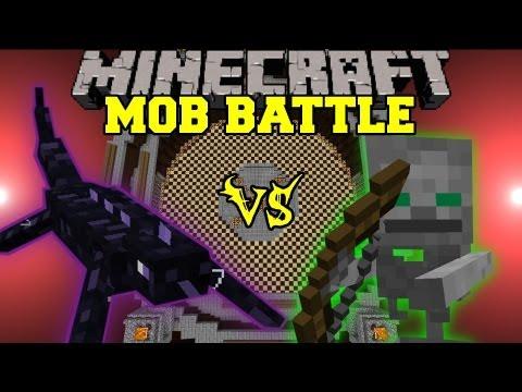 Obsidian Lizard Vs. Skeleton Friend - Minecraft Mob Battles - Angry Creatures Mod