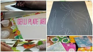 Gel Plate Printing to Collaged Art Piece