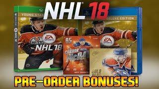 NHL 18 PRE-ORDER BONUSES   NEW LOOK HUT CARDS & PACKS!