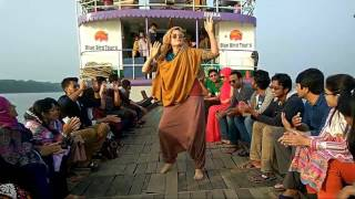 Beautiful Foreigner Lady Dance in Sundarban