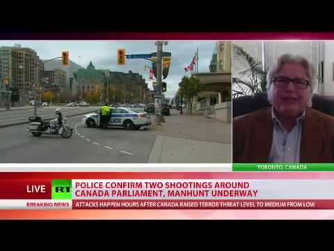 Shooting at Canadian Parliament, area in lockdown, manhunt underway