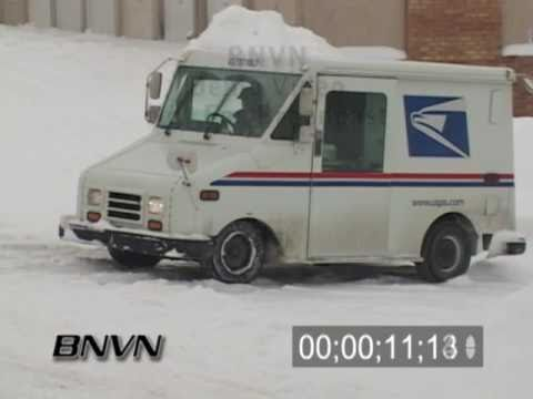 2/2/2004 US Mail Truck Stuck In The Snow
