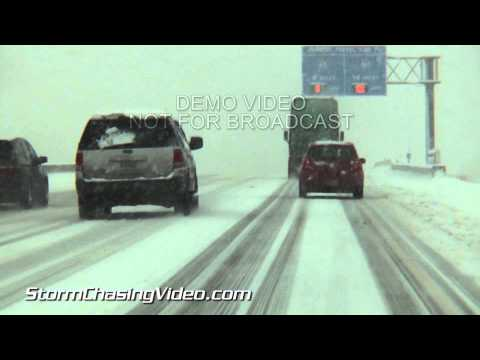 1/5/2014 Indianapolis, IN  Heavy Snow Traffic Travel Hazard B-Roll