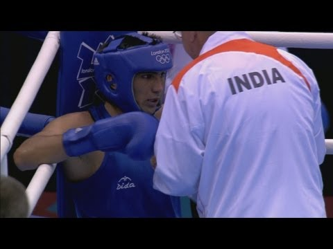 IND v TKM - Boxing Light Welter (64kg) Round of 32 | London 2012 Olympics