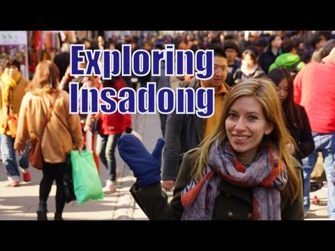 Visiting Insadong street (인사동) in Seoul for Korean culture, buying souvenirs & street food