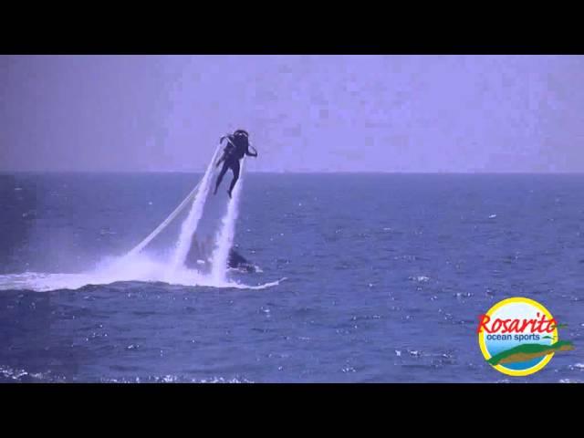 First Water Jetpack Flight with Rosarito Ocean Sports at Rosarito Beach Baja California Mexico