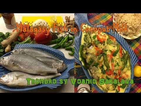 Madagascar Fish in Coconut Milk (Trondro sy Voanio) in Malagasy and English