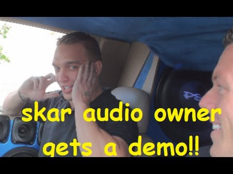OWNER OF SKAR AUDIO GETS A HOE DEMO! SBN 2013 VID 30