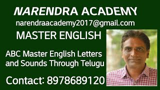 ABC ENGLISH LETTERS AND SOUNDS - ENGLISH THROUGH TELUGU - by NARENDRA KUMAR